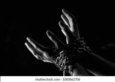 Hands are chained