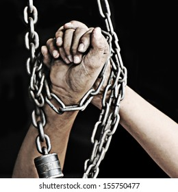 Hands with chained