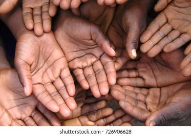 The hands of children.