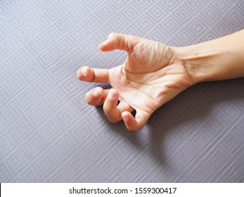 Hands with convulsions and muscle spasms, seizure disorder.