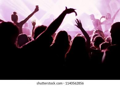 Hands of crowd