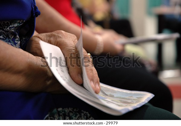 Hands of a dear old lady