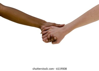 Hands of diversity. Black and white hands