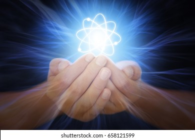 Hands with energy rays