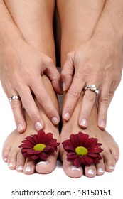 hands and feet - focus on rings