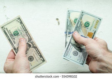 hands, five and hundred dollar