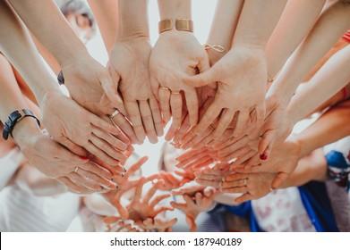 hands  form a circle