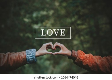 hands forming heart, concept of love and friendship