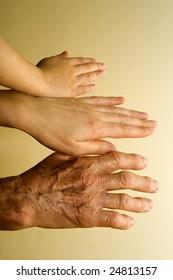 hands of generations