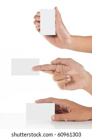 hands giving a card compilation