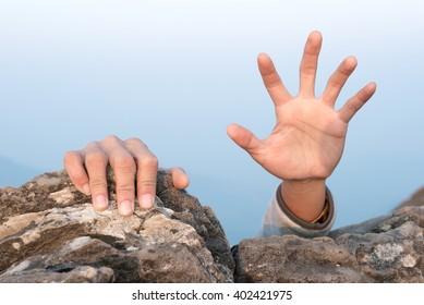 hands for help rock climbing