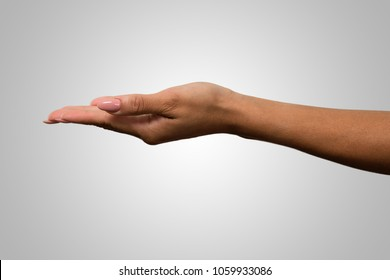 hands holding gesture over white