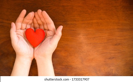 hands holding heart give love philanthropy donate help warmth take care valentines day / health care love organ donation family insurance world health day hope gratitude covid-19 coronavirus relief