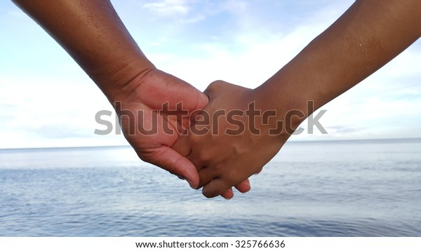 hands holding with love