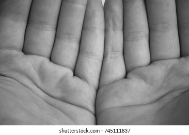 hands infront of face