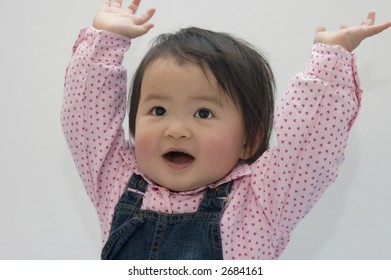 hands up little girl