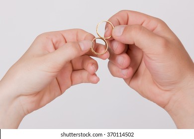 Hands in love - Wedding ring with human hand