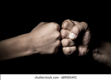 The hands of the man seized with power