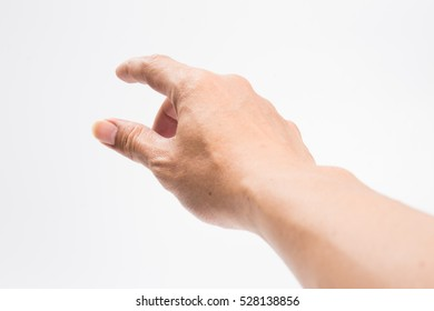 hands of men who were picked up on a white background.