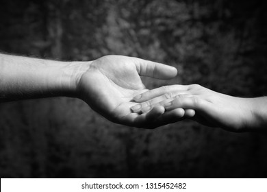 The hands of men and women. Support and love