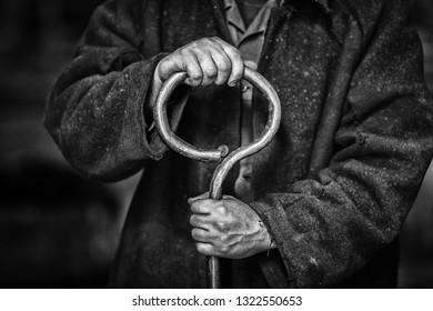 Hands of metallurgist