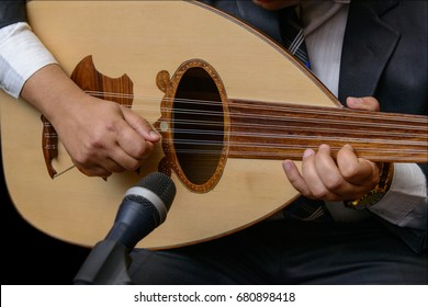 Hands of A Musician Playing Note on Lute