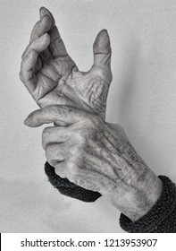 Hands of old woman. Aging concept