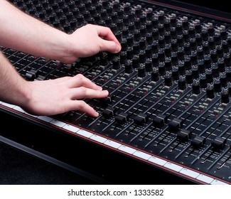 Hands on Mixing Console