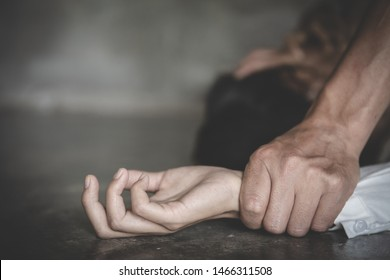 Hands for rape and sexual abuse.Sexual abuse is a problem or Social issues concept. Copy space
