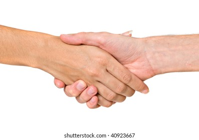 Hands ready for handshaking