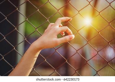 hands sad lack of freedom