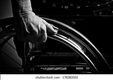 Hands Senior in wheelchair