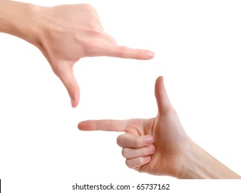 Hands in the shape of frame