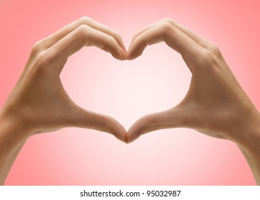 Hands in the Shape of a Heart Images, Stock Photos & Vectors ...