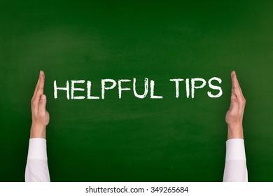Hands Showing HELPFUL TIPS on Blackboard