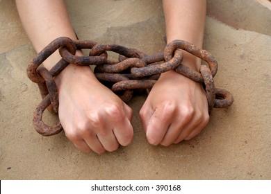 hands of slave