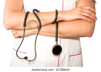 hands and stethoscope