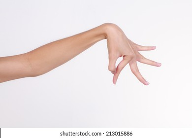 Hands of Thai, show dancing hand on white background