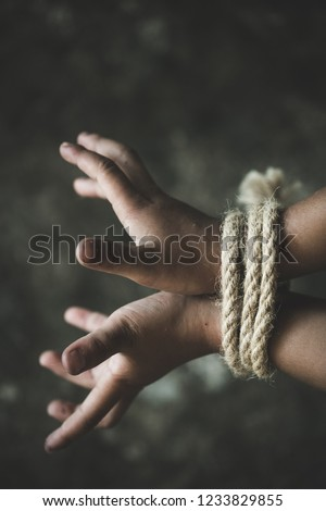 Hands tied up with