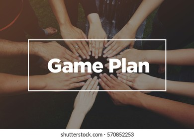 Hands together with text: Game Plan