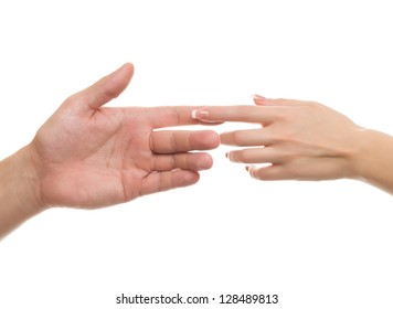 hands, touching hands