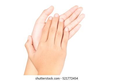 Hands touching interpretation.