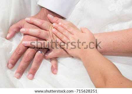 Hands Wedding Rings Hand Child Kid Stock Photo Edit Now 715628251