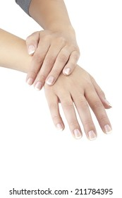 hands witch French manicure