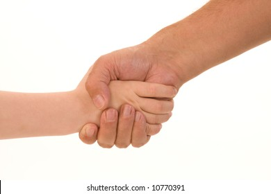 handshake between child and adult