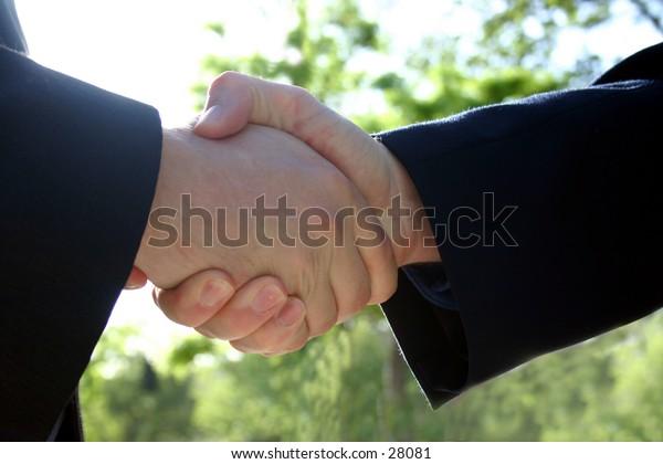 handshake of business