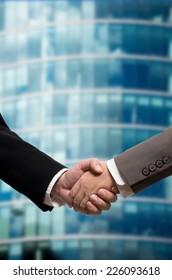 Handshake of business man