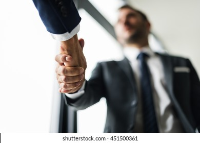 Handshake Business Men Concept