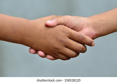 Handshake, close up
