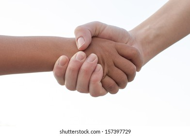 Handshake closeup photo